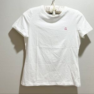 BROOKS BROTHERS 346 White Classic Short Sleeve Tee